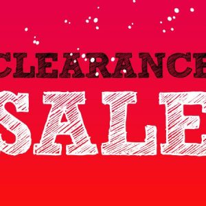*Clearance Sell Out